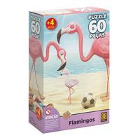 Puzzle 60 Peças Flamingos