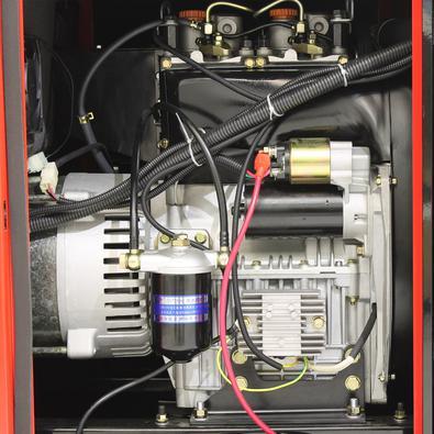 Gerador A Diesel Silenciado 11 Kva Monofásico 110/220v Partida Elétrica Refrigerado A Ar - Nngd13sta - Nagano