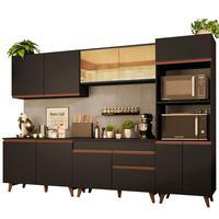 Cozinha Completa Madesa Reims 310001 com Armário e Balcão Preto