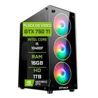 Pc Gamer Fácil Intel Core I5 10400f 16gb Geforce Gtx 750ti 4gb Gddr5 Hd 1tb Fonte 500w
