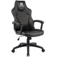 Cadeira Gamer Giratória Com Elevação A Gás Office Holt H01 Preto Cinza - Fortrek