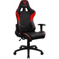 Cadeira Gamer Office Giratória Com Elevação A Gás Ec3 H01 Preto Vermelho - Thunderx3