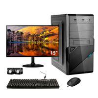 Computador Completo Corporate I3 8gb 120gb Ssd Dvdrw Windows 10 Monitor 15