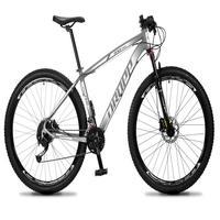 Bicicleta Aro 29 Dropp Rs1 Pro 27v Alivio, Fr. Hidra E Trava - Cinza/branco - 21'' - 21''