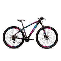 Bicicleta Alum 29 Ksw Cambios Gta 27 Vel Freio Disco Hidráulica E Trava - 21´´ - Preto/azul E Rosa