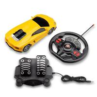 Carrinho de Controle Remoto 1:16 Nitro Amarelo Corrida BR1145