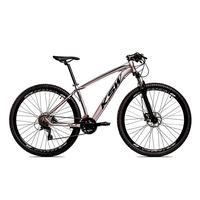 Bicicleta Alumínio Aro 29 Ksw 24 Velocidades Freio Hidráulico Krw17 - 17'' - Prata/preto