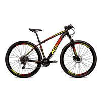 Bicicleta Alumínio Ksw Shimano Altus 24 Vel Freio Hidráulico E Cassete Krw19 - Preto/amarelo E Vermelho - 19´´