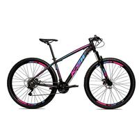 Bicicleta Alumínio Aro 29 Ksw 24 Velocidades Freio A Disco Krw16 - 21'' - Preto/azul E Rosa