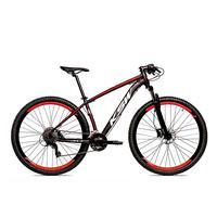 Bicicleta Alumínio Aro 29 Ksw 24 Velocidades Freio  Hidráulico Krw17 - 21´´ - Preto/vermelho