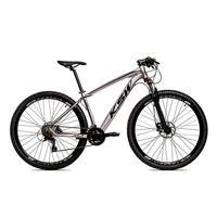 Bicicleta Alumínio Ksw Shimano Altus 24 Vel Freio Hidráulico E Suspensão Com Trava Krw18 - 21´´ - Prata/preto