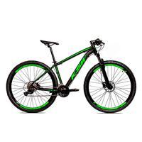 Bicicleta Alum 29 Ksw Cambios Gta 27 Vel Freio Disco Hidráulica - 19´´ - Preto/verde Fosco