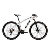 Bicicleta Alumínio Ksw Shimano Altus 24 Vel Freio Hidráulico E Suspensão Com Trava Krw18 - 15.5´´ - Branco/preto