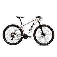 Bicicleta Alumínio Ksw Shimano Altus 24 Vel Freio Hidráulico E Cassete Krw19 - 19´´ - Branco/preto