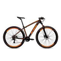 Bicicleta Alumínio Ksw Shimano Altus 24 Vel Freio Hidráulico E Cassete Krw19 - 19´´ - Preto/laranja Fosco