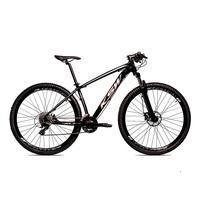 Bicicleta Alumínio Aro 29 Ksw 24 Velocidades Freio  Hidráulico Krw17 - 17´´ - Preto/prata
