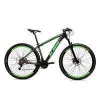 Bicicleta Alum 29 Ksw Cambios Gta 24 Vel A Disco Ltx - 19´´ - Preto/verde Fosco