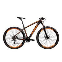 Bicicleta Alumínio Ksw Shimano Altus 24 Vel Freio Hidráulico E Suspensão Com Trava Krw18 - 15.5'' - Preto/laranja Fosco
