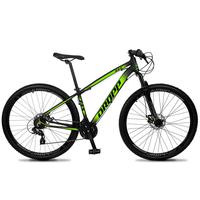 Bicicleta Aro 29 Dropp Z4x 24v Suspensão E Freio A Disco - Preto/verde - 15´´ - 15´´