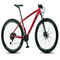 Bicicleta Aro 29 Dropp Rs1 Pro 21v Tourney Freio Disco/trava - Vermelho/preto - 17