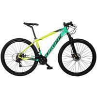 Bicicleta Aro 29 Dropp Z7x 21v Shimano, Suspen E Freio Disco - Amarelo/verde E Preto - 19´´ - 19´´