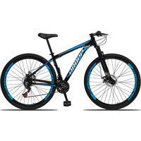 Bicicleta Aro 29 Dropp Aluminum 21v Suspensão, Freio A Disco - Preto/azul E Branco - 21