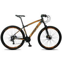 Bicicleta Aro 29 Dropp Z4x 24v Susp C/trava Freio Hidraulico - Preto/laranja - 17''