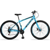 Bicicleta Aro 29 Spaceline Moon 21v Garfo Rigido Freio Disco - Azul/preto - 17´´ - 17´´