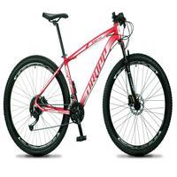 Bicicleta Aro 29 Dropp Rs1 Pro 27v Alivio, Fr. Hidra E Trava - Vermelho/branco - 21´´ - 21´´