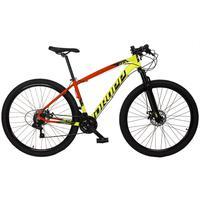 Bicicleta Aro 29 Dropp Z7x 21v Shimano, Suspen E Freio Disco - Vermelho/amarelo E Preto - 19''