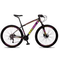 Bicicleta Aro 29 Gt Sprint Volcon 21v Shimano, Freio A Disco - Preto/amarelo E Rosa - 19''