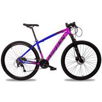 Bicicleta Aro 29 Dropp Z7x 27v Susp C/trava Freio Hidraulico - Azul/rosa E Preto - 15''