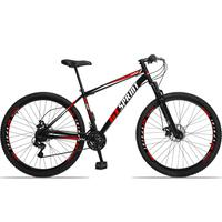 Bicicleta Aro 29 Gt Sprint Mx1. 21v Freio Disco E Suspensão - Preto/vermelho E Branco - 19''