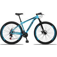 Bicicleta Aro 29 Dropp Aluminum 21v Suspensão, Freio A Disco - Azul/preto - 17