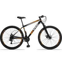 Bicicleta Aro 29 Gt Sprint Mx1. 21v Freio Disco E Suspensão - Preto/laranja E Branco - 19´´ - 19´´