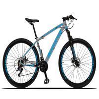 Bicicleta Aro 29 Dropp Z3x 21v Suspensão E Freio Disco - Cinza/azul - 15´´ - 15´´