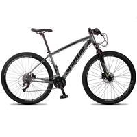 Bicicleta Aro 29 Spaceline Vega 27v Suspensão E Freio Hidral - Cinza/preto - 15''