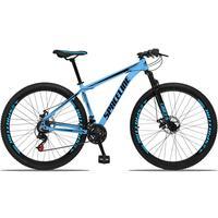 Bicicleta Aro 29 Spaceline Orion 21v Suspensão Freio A Disco - Azul/preto - 19''