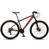 Bicicleta Aro 29 Dropp Z4x 24v Susp C/trava Freio Hidraulico - Preto/vermelho - 17´´ - 17´´