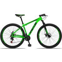 Bicicleta Aro 29 Spaceline Orion 21v Suspensão Freio A Disco - Verde/preto - 21''
