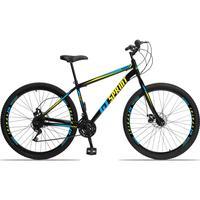Bicicleta Aro 29 Gt Sprint Mx1. 21v Garfo Rigido Freio Disco - Preto/azul E Amarelo - 19´´ - 19´´