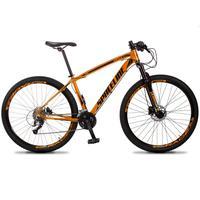 Bicicleta Aro 29 Spaceline Vega 27v Suspensão E Freio Hidral - Laranja/preto - 19''