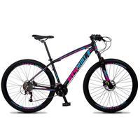 Bicicleta Aro 29 Gt Sprint Volcon 21v Suspensão, Freio Disco - Preto/azul E Rosa - 19