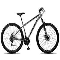 Bicicleta Aro 29 Dropp Sport 21v Suspensão E Freio A Disco - Cinza/preto - 19