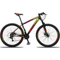 Bicicleta Aro 29 Dropp Z3 21v Shimano, Suspensão Freio Disco - Preto/amarelo E Vermelho - 15´´ - 15´´