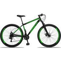 Bicicleta Aro 29 Dropp Sport 21v Suspensão E Freio A Disco - Preto/verde - 19
