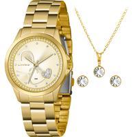 Kit Relógio Lince Feminino Com Semi-joias Lrgj107lkx77c1kx