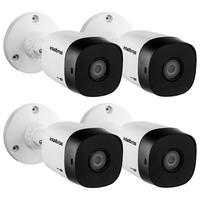 Kit 4 Câmeras Multi Hd 1 Megapixel 3.6mm 10m Vhd 1010 B G6 Intelbras