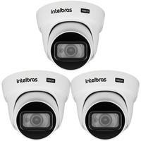 Kit 3 Câmeras Hdcvi 4k 8 Megapixel 2.8mm 20m Vhd 5820 D 4k Intelbras