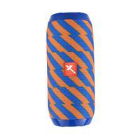 Caixa de Som Portátil Xtrad XDG-117 Bluetooth Entrada USB Micro SD Som Potente Amarelo com Azul
